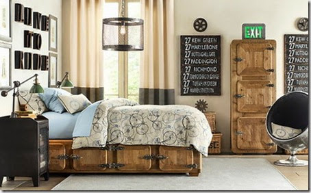 Wood-Classic-Beds-Furniture-and-Storage-in-Teenagers-Bedroom-Interior-Decorating-Designs-Ideas