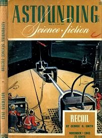 Cover by Timmins of Astounding Science Fiction magazine, November 1943 issue.