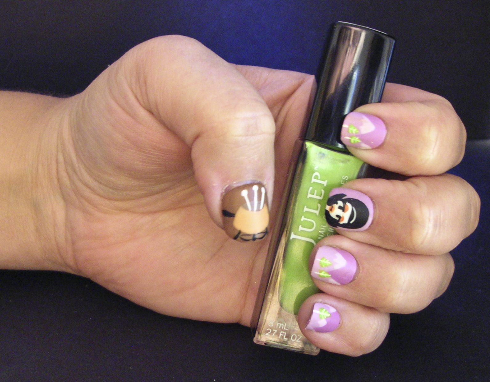 Ecklipsed By Color Lowbrow Nail Art Inspired By Shags Fondue Set