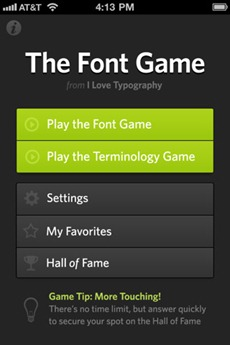 The Font Game
