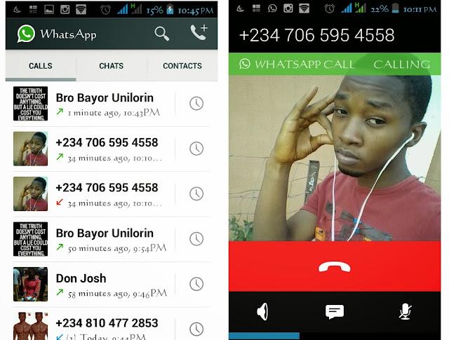 whatsapp voice call feature