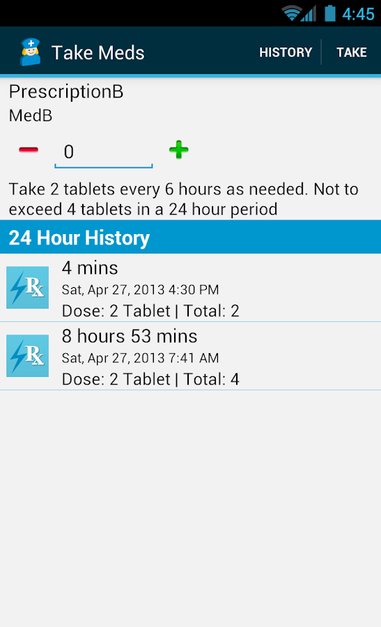 Med Helper Pro Pill Reminder- screenshot