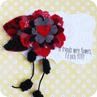 2-cafe-creativo - big shot- scrapbooking - spilla fiore feltro