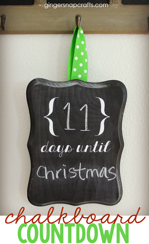 DIY Chalkboard Countdown tutorial from GingerSnapCrafts.com_thumb