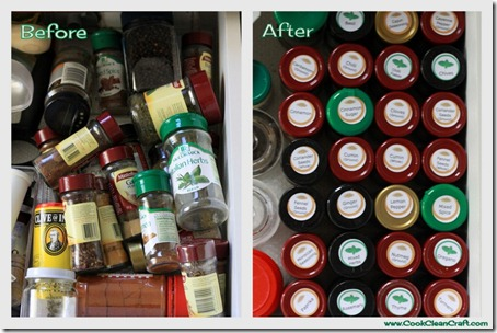Spice Drawer Before and After