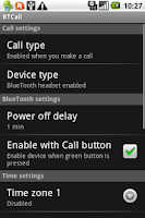 Screenshot of BTCall - Bluetooth auto on/off