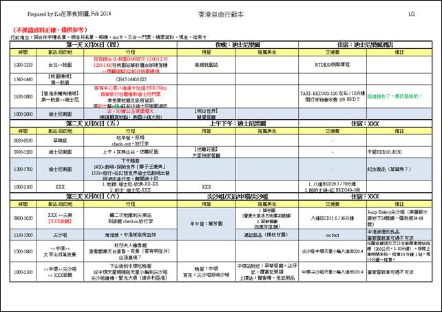 香港自由行行前準備 PART 2:行程、門票、APP_02