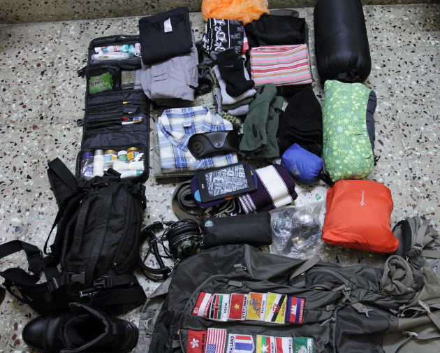 Travel checklist for winter backpacking trips