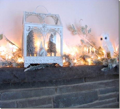 White crystal mantel