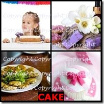 CAKE- 4 Pics 1 Word Answers 3 Letters