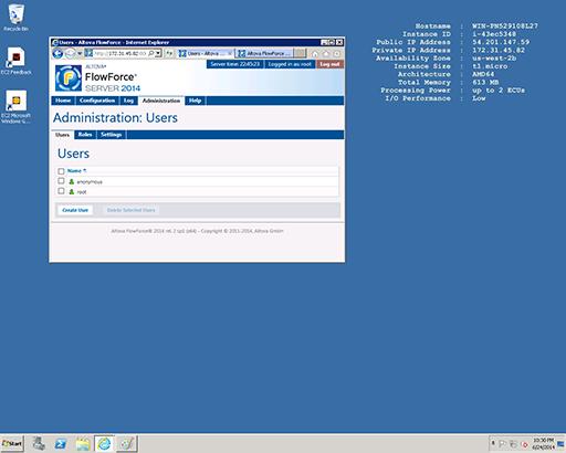 FlowForce Server running in the cloud