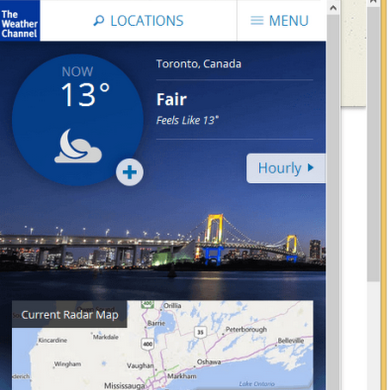 Weather Forecastintegrates the Weather Channel Mobile Site into your browser.