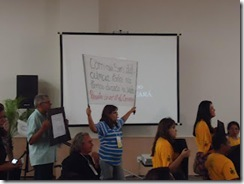 Foto dos manifestantes
