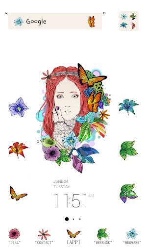 princess flower dodol theme
