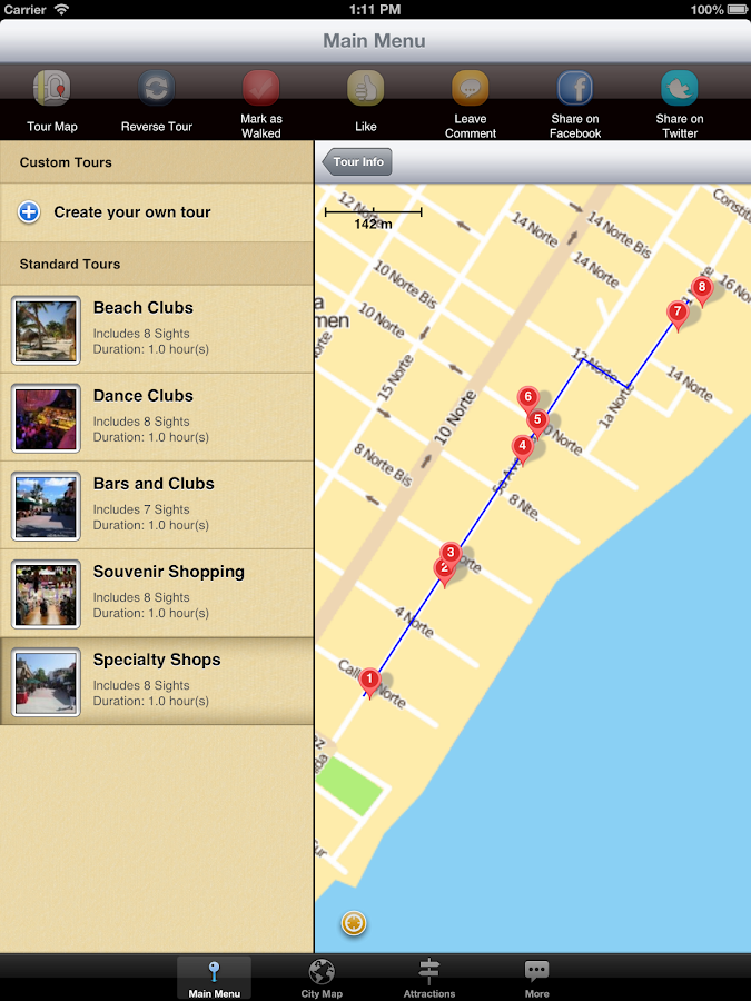 Playa Del Carmen Map And Walks Android Apps On Google Play