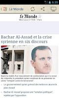 Screenshot of Les Journaux en Français