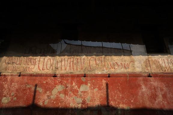 Pintadas electorales.Antigua ciudad romana de Pompeya.Pompeya, Italia