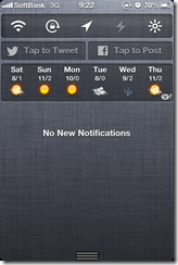 iOS notification center twitter and facebook