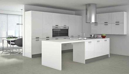 moderna-cocina-minimalista-blanca-Cocinas modernas blancas