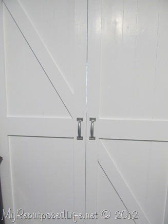 faux barn door (handles)