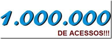 Um milhão de acessos