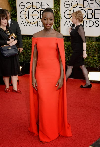 Lupita Nyong'o attends the 71st Annual Golden Globe Awards