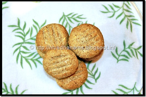 Oats Almonds Cookies  - 1 -  IMG_3377