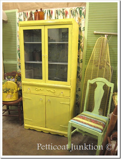 Yellow Stenciled China Painted Furniture