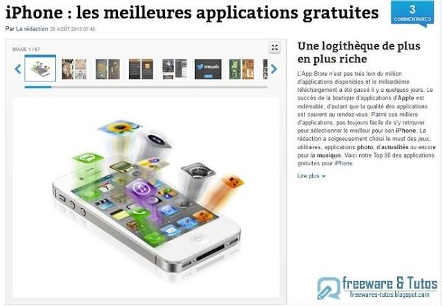 Le site du jour : les meilleures applications gratuites pour iPhone