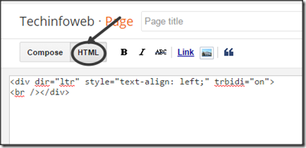 html-mode-blogger-page