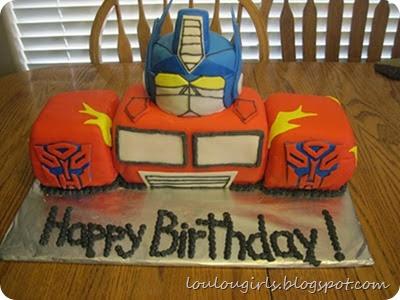 Transformers-cake