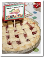 From Scratch Cherry Pie for Hungry Caterpilalr Party
