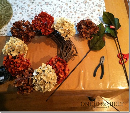 Fall Hydrangea Wreath Tutorial- ONE little MOMMA