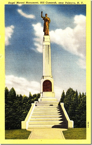 The Angel Moroni Monument Postcard pg. 1