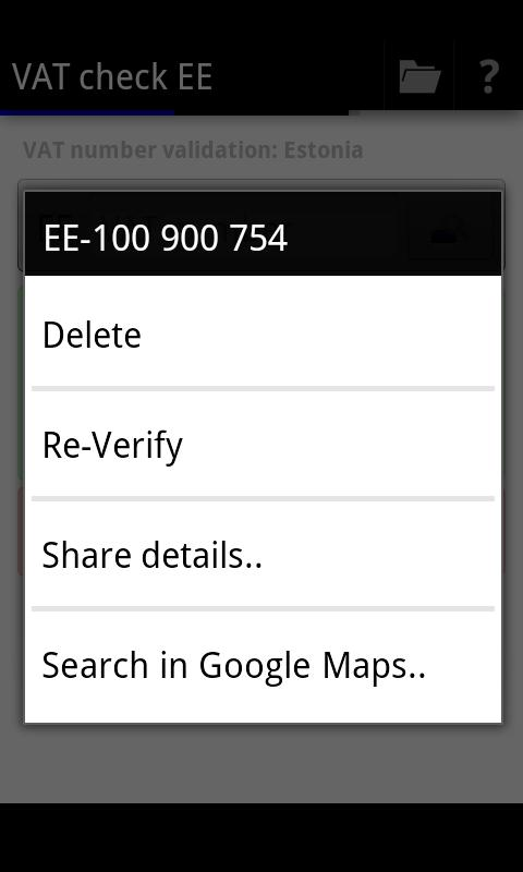 VAT check EE- screenshot