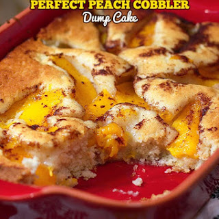 Simple Peach Cobbler Dump Cake.