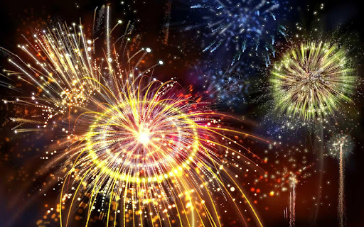 3D Fireworks Wallpaper