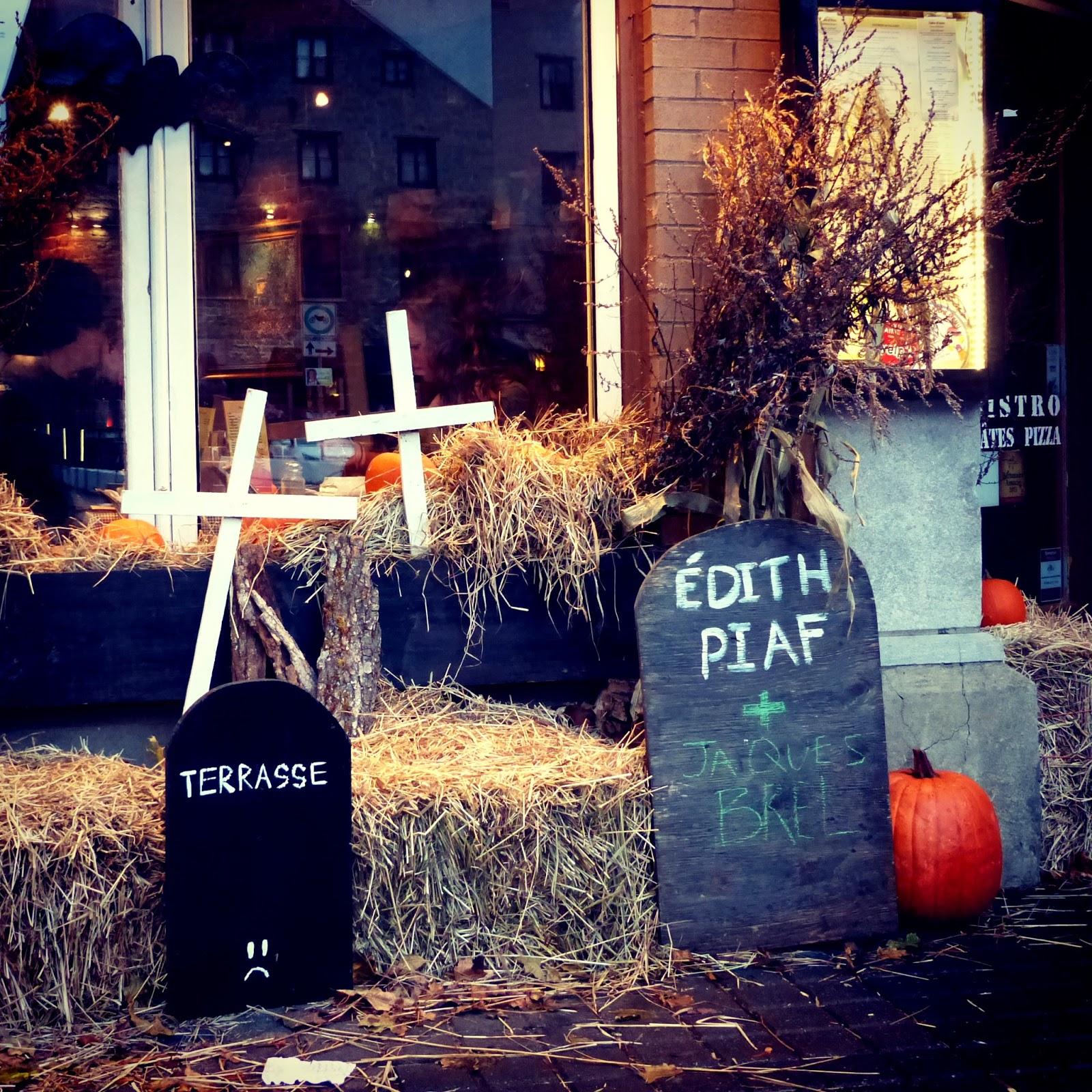 Décos d'Halloween dans le Vieux-Québec