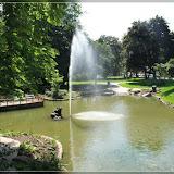 Wasserspiel im Park in Mariánské Lázně