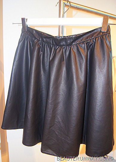 H&M Singapore Women Leather Skirt Autumn Winter 2011