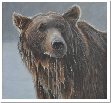 grizzly portrait painting