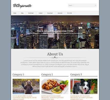 Template Blogspot - BCorporate - Responsive