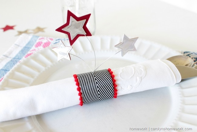 Patriotic Napkin Rings with Stars via homework ~ carolynshomework (6)