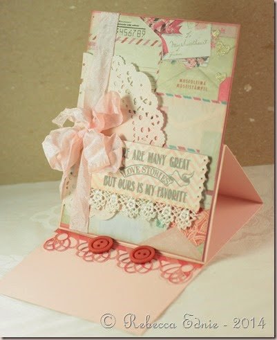 girlie love story easel open