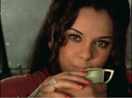 Sunita sipping