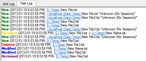 Monitor Folder and File Changes
