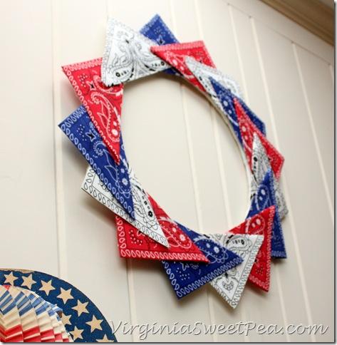 Patriotic Bandana Wreath1