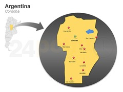 cordoba-argentina-powerpoint-slide-map