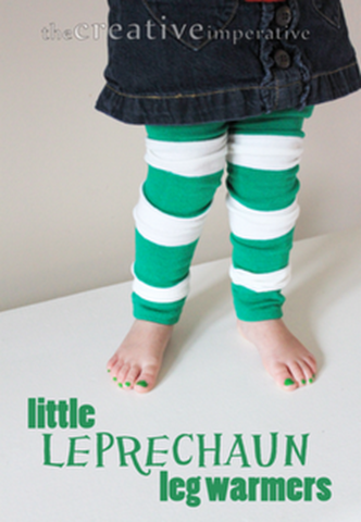 leg warmers for st patricks day with text