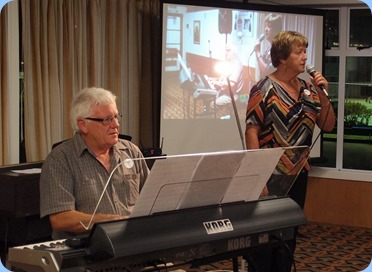 Our guest artist, Rod Moffat and Nelleke Moffat, gave us a couple of songs with jazz vocals - great stuff! Photo courtesy of Dennis Lyons.